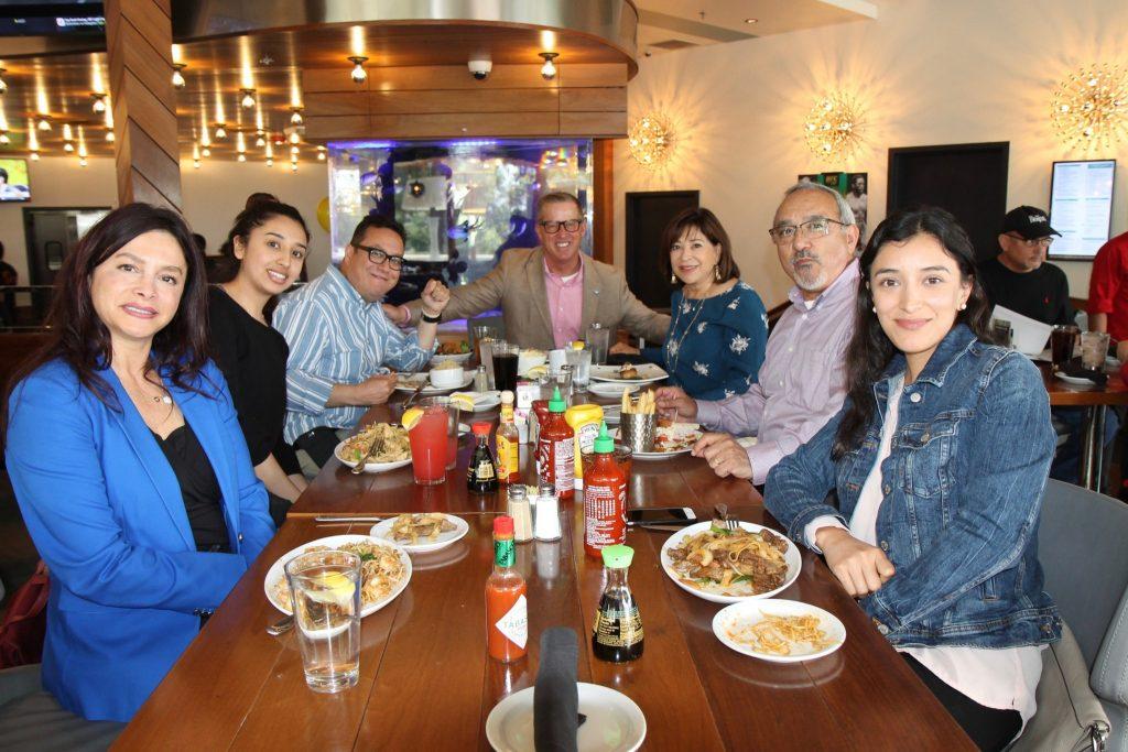 Dine Out participants at a restaurant